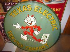 Reddy Kilowatt Electric  Vintage Logo Reproduction Garage Sign
