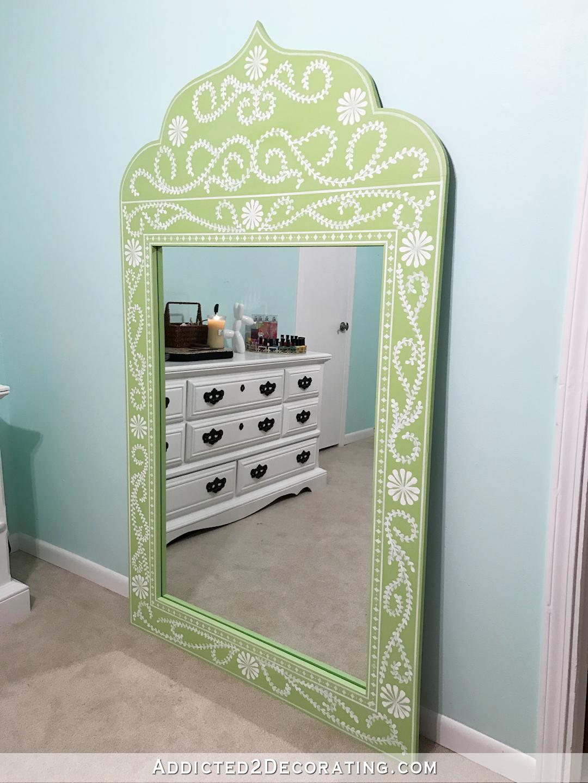 DIY Hand Painted Framed Full-Length Mirror | DIY | Mirror ...