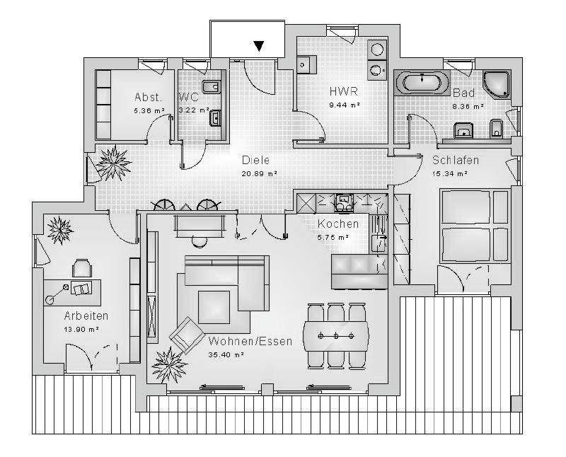 Grundrisse Bungalow Haustyp Bungalow40.26 Bungalow