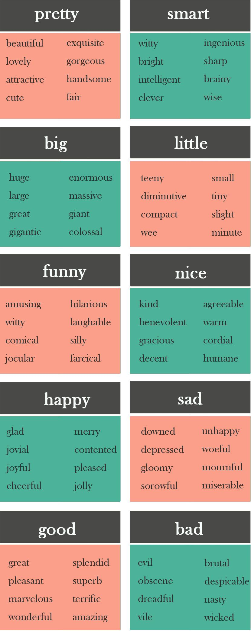 10 Boring Words and What to Use Instead - learn English,words ...