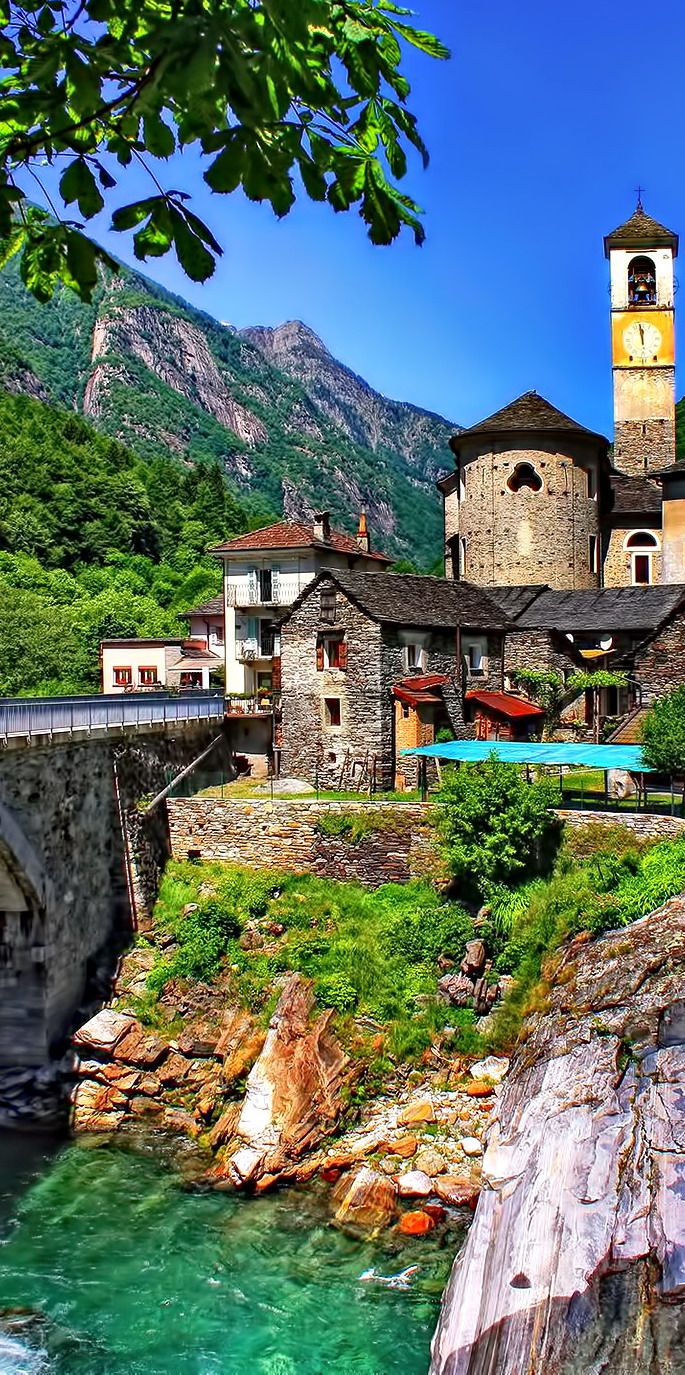 The stunning village of Lavertezzo in the Ticino region of