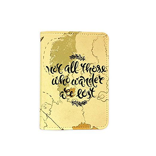 Not all who wander are lost world map passport holder leather not all who wander are lost world map passport holder leather passport cover vintage gumiabroncs Images