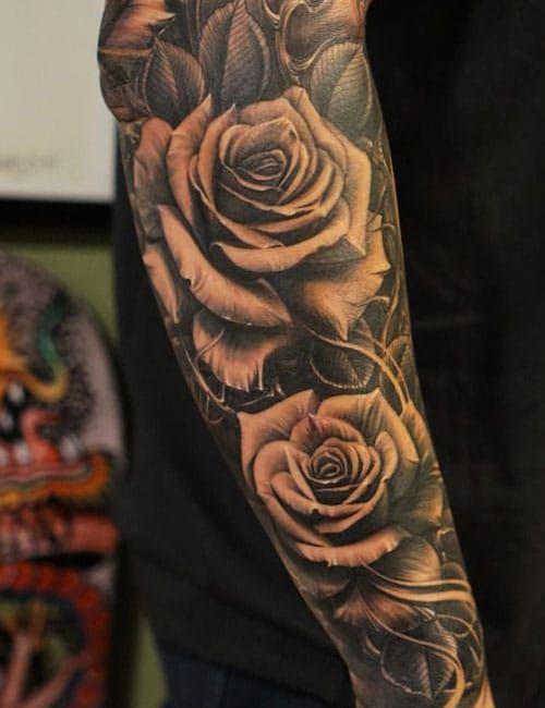 101 Best Rose Tattoos For Men | Rose tattoos for men, Cool ...