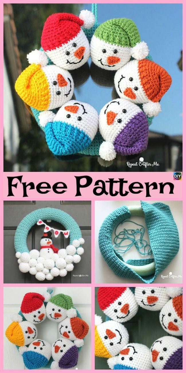 Photo of Crochet Cute Snowman – Free Pattern #freecrochetpatterns #snowman #christmasidea …