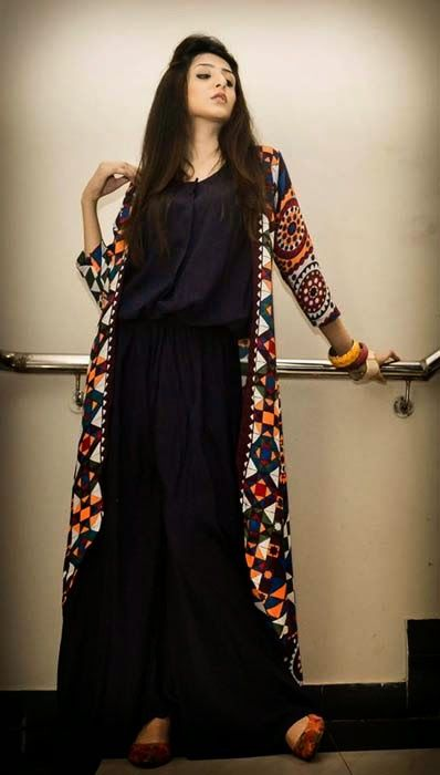1736bbfcf55e Stylish Eid And Party Wear Long Shirts For Girls By Maverick From 2014