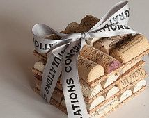 Wine Cork Coasters Set of 4, Newlywed Gift, Wedding Favors, Congratulations Gift, Bridal Shower, Wine Themed Wedding.