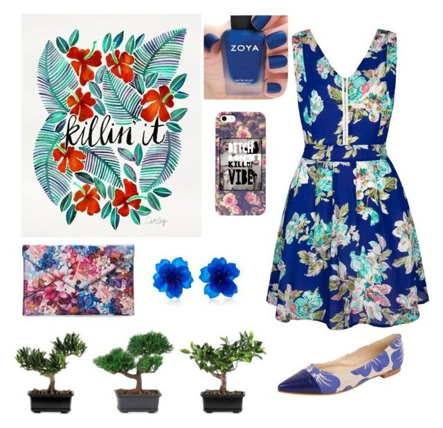 """""""TROPICAL"""" by fashionmadness13 on Polyvore featuring Yumi, Dolce Lei, Nearly Natural, Danielle Nicole, Matthew&Melka and Zoya"""