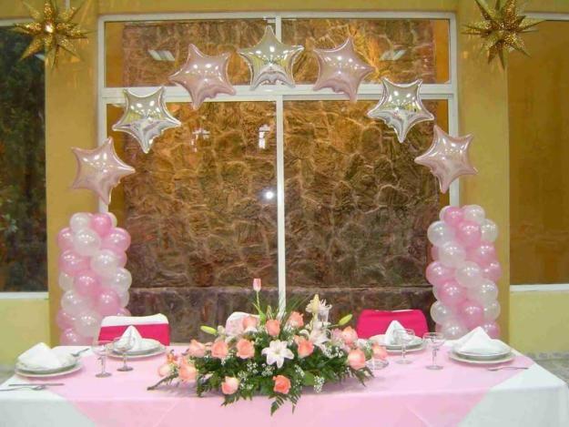 Decoracion para una quinceanera contamos con una gran for Arreglos de salon para xv