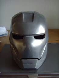 Iron Man Mask That Was Casted Out Of Aluminum Sand Casting