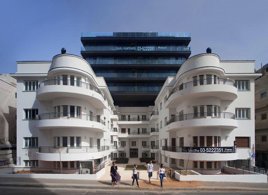 ... Diezengoff bauhaus building in Tel Aviv, ...