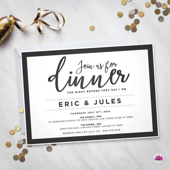 join us for dinner rehearsal dinner invitation digital file in
