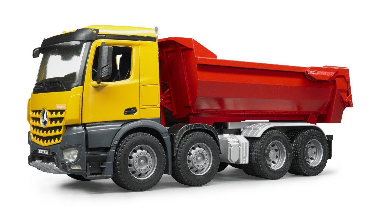 bruder mercedes benz halfpipe dump truck construction site