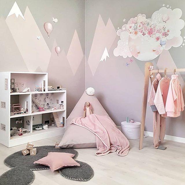 ZIMMER FLORENZ - rosafarbene Landschaftswände #kleinkindzimmer