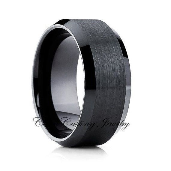 10mm Black Tungsten Band Black Tungsten Tungsten Wedding Band Men S Black Tungsten Wedding Band Tungsten Wedding Rings Black Tungsten Wedding Ring