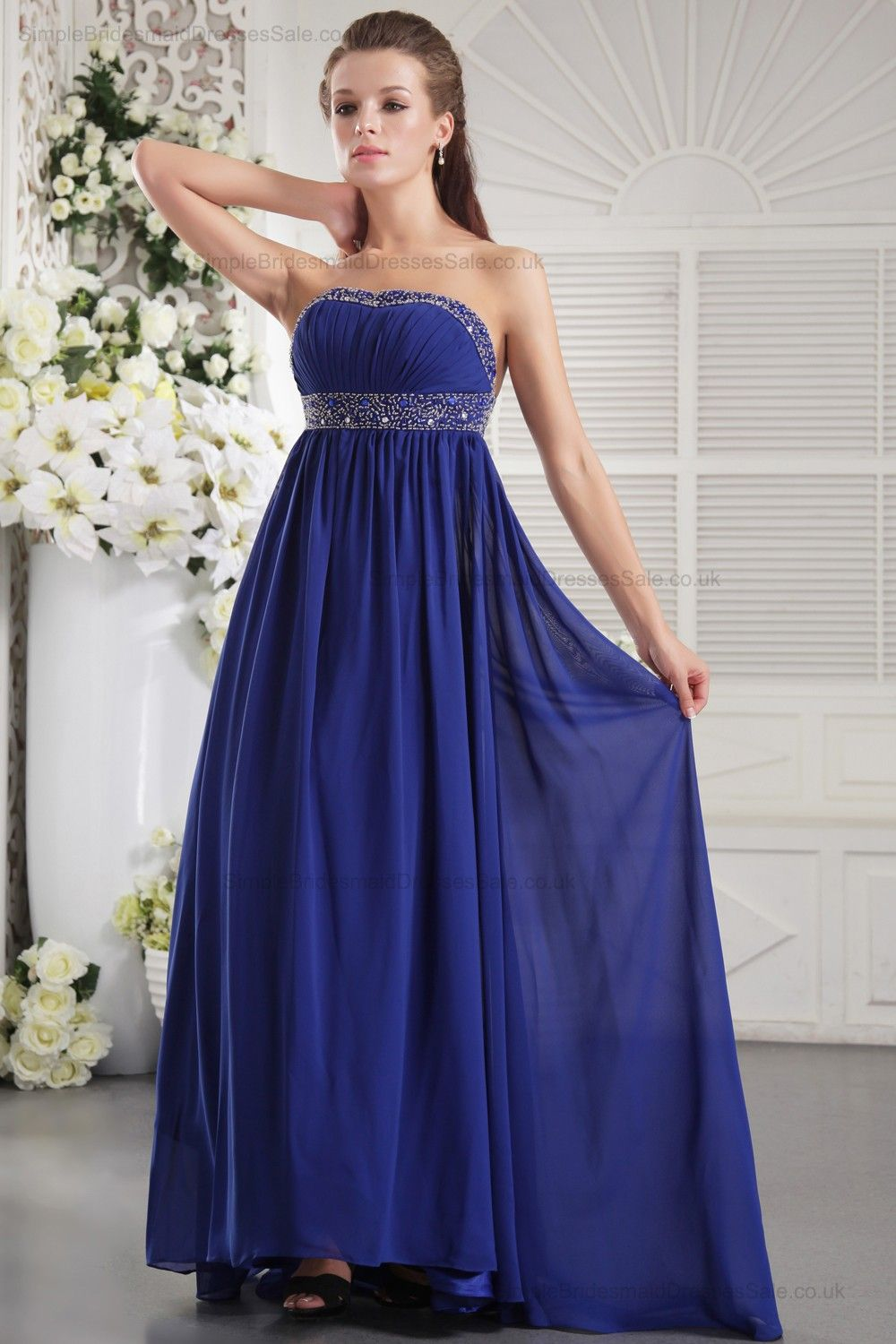 Chiffon blue bridesmaid dress blue bridesmaid dresses chiffon blue bridesmaid dress ombrellifo Image collections