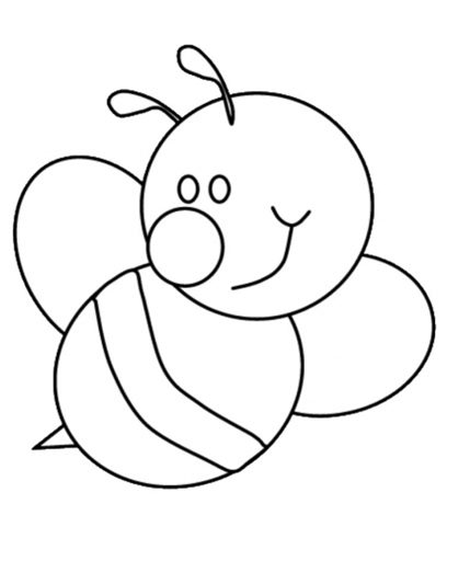 Bee Coloring Book Coloring Pages Hello Kitty Coloring Pages For Clipart Best Bee Coloring Pages Bee Template Animal Coloring Pages