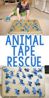 Animal Tape Rescue Activity Animal Tape Rescue Activity