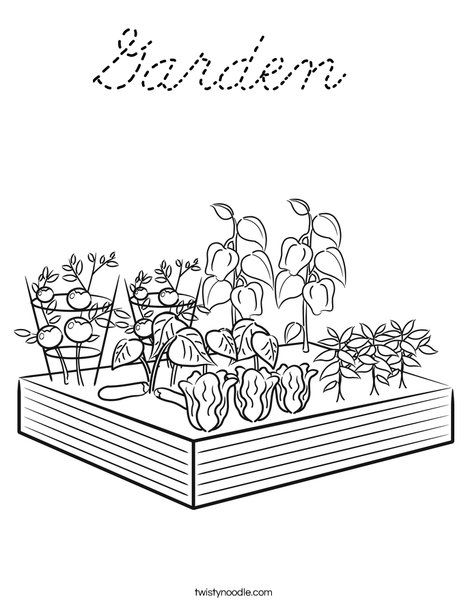 Garden Coloring Page Garden Coloring Pages Farm Coloring Pages