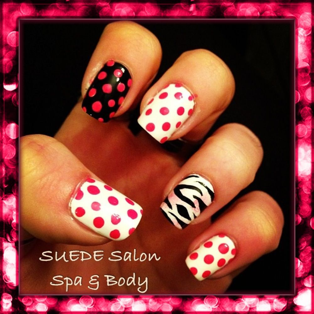 Back to school cool nails by Corinne D. SUEDE Salon Spa