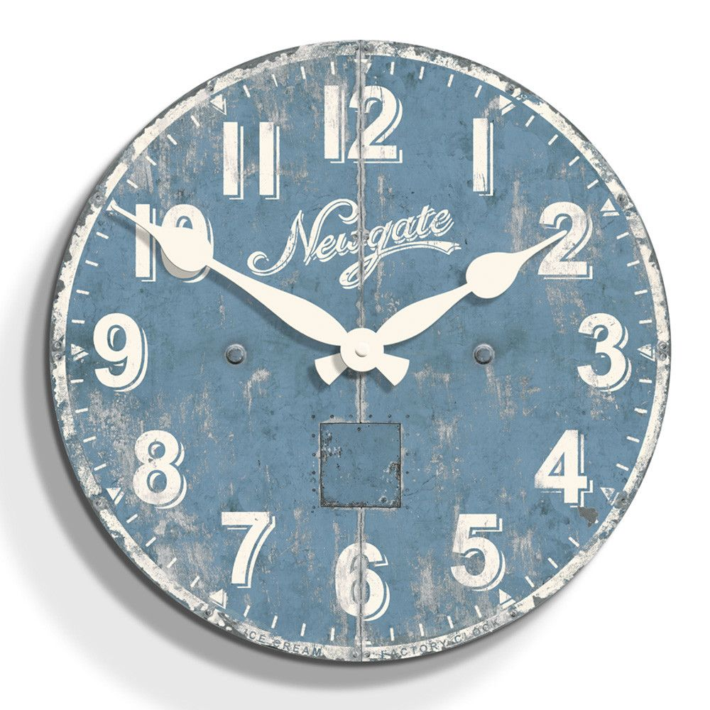 Ice Cream Factory Clock - Antique Blue - 50cm dia from Newgate ...