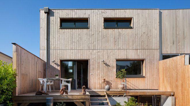 a bordeaux une maison de ville en bois contemporaine et cologique nergie positive. Black Bedroom Furniture Sets. Home Design Ideas