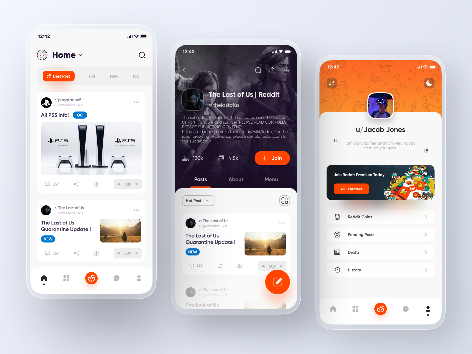 Reddit App Redesign Social App Design Web App Design Ux App Design