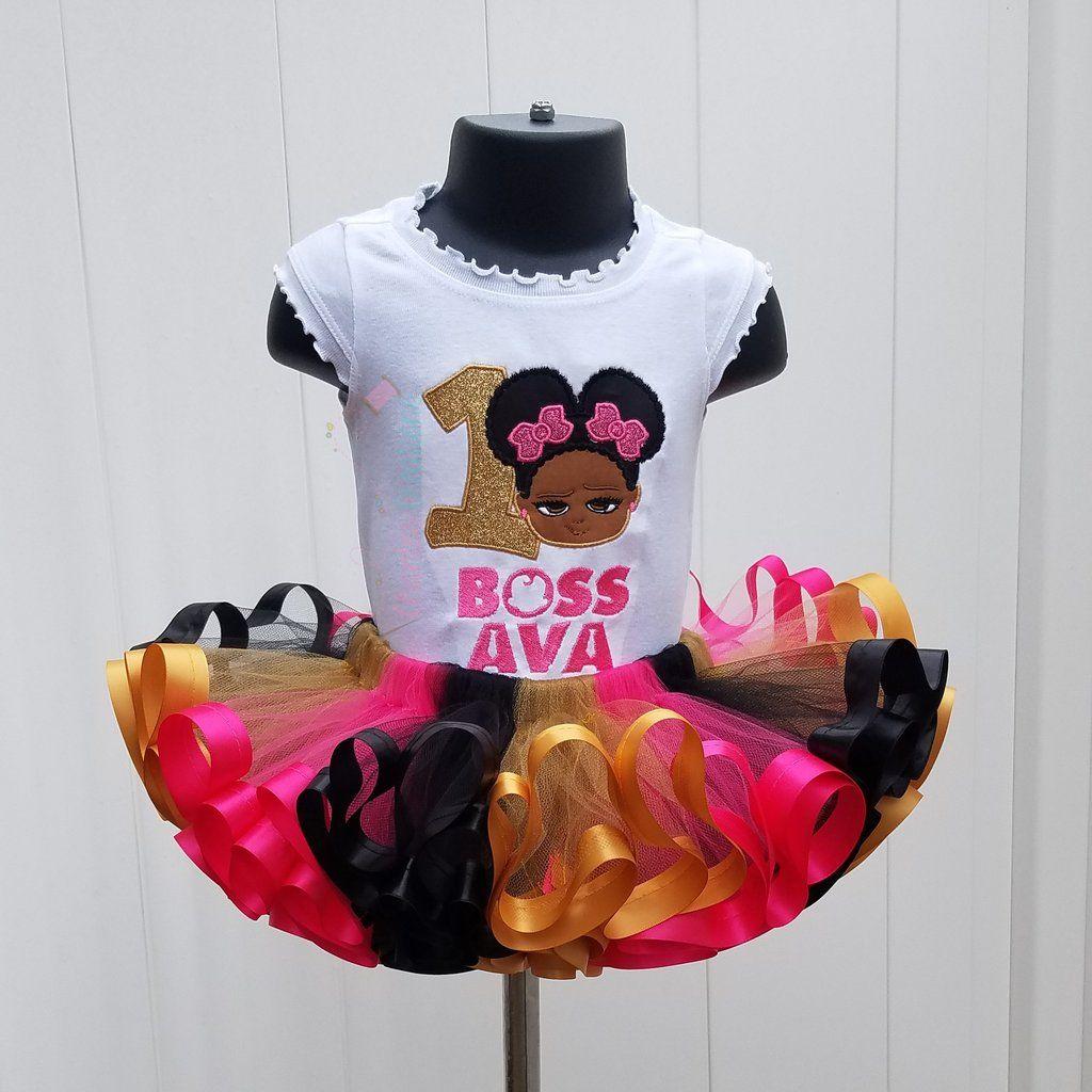 Pink, Black and Gold Boss Baby Tutu Set Boss baby, Baby