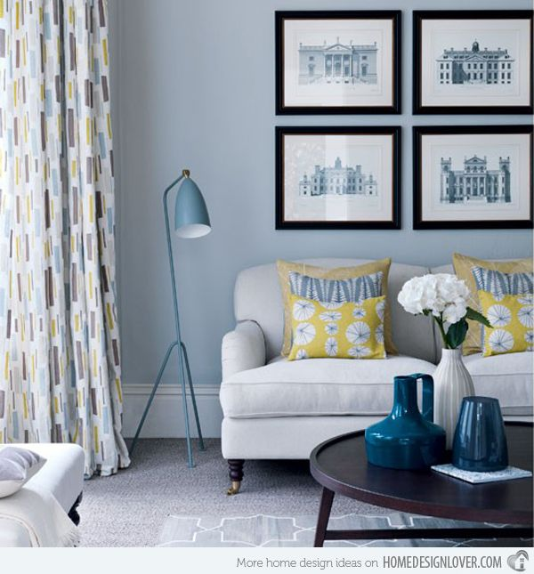 Charming Ideas Pictures Of Yellow Living Rooms. A Collection of 16 Charming Living Room Curtains  room
