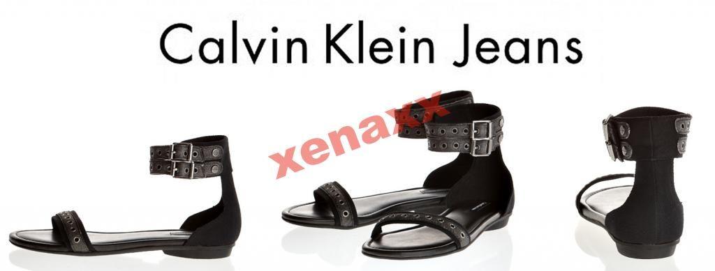 Calvin Klein Markowe Skorzane Sandalki R 38 Calvin Klein Calvin Klein Jeans Calvin
