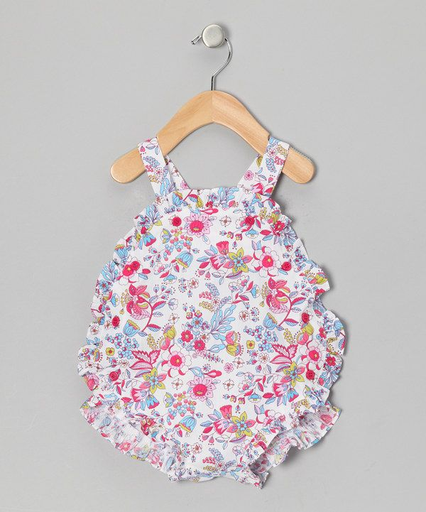 Take a look at this White Felicity Floral Christina Romper - Infant on zulily today!