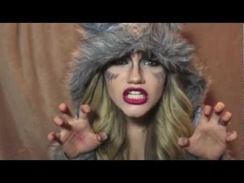 she wolf halloween makeup tutorial youtube - Wolf Makeup Halloween