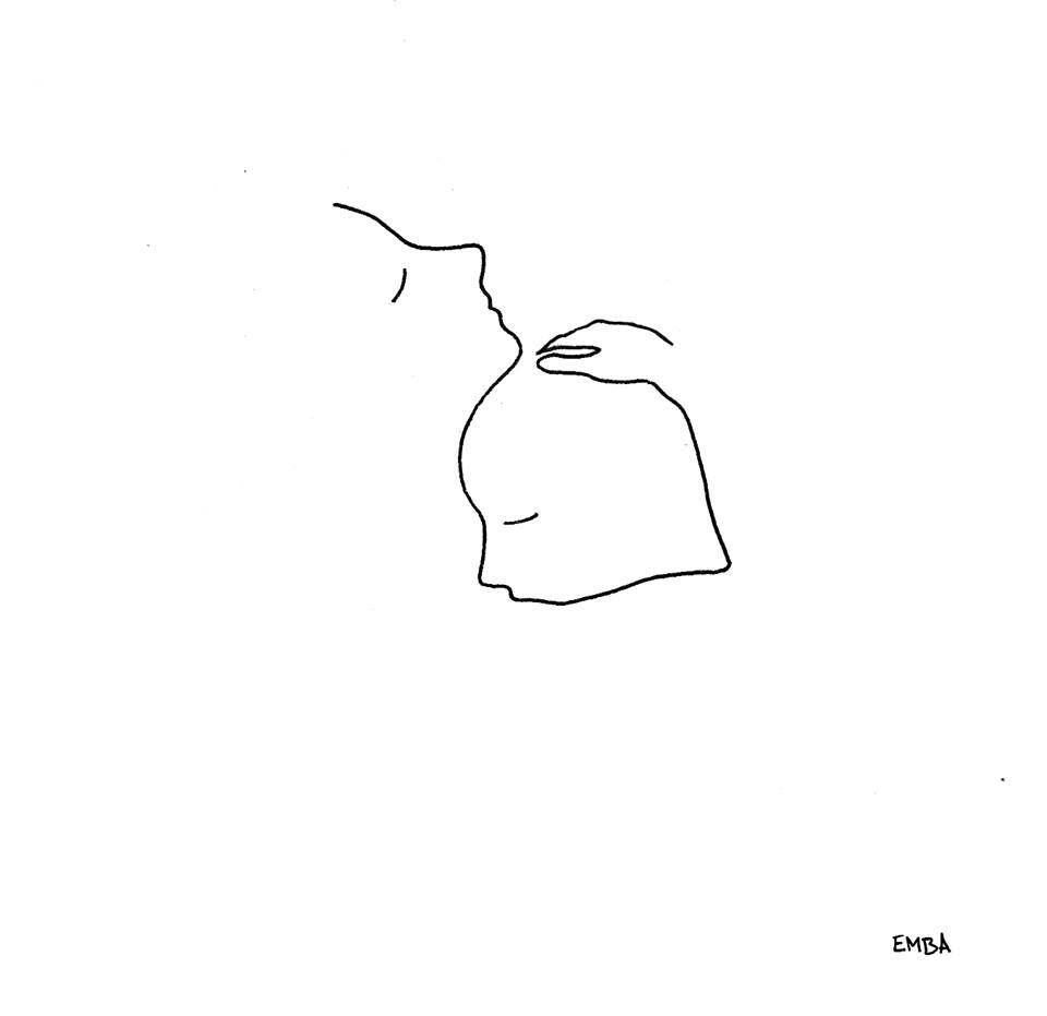 A Hug Is The Most Beautiful Gift In Life Minimalist Drawing