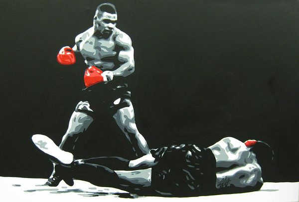 Mike Tyson 5 Art Print by Geo Thomson.  All prints are professionally printed, packaged, and shipped within 3 - 4 business days. Choose from multiple sizes and hundreds of frame and mat options.