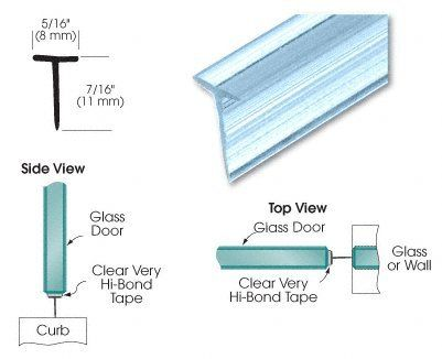 Crl Translucent Shower Door Vinyl T Seal And Sweep For 7 16