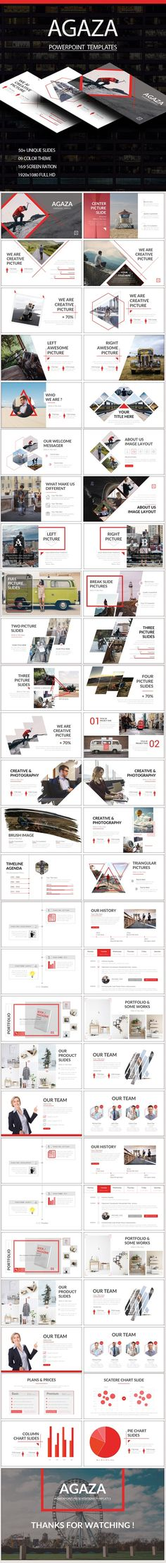 AGAZA PowerPoint Templates Template, Catalog layout and Brand manual - it manual templates to download