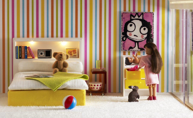 Lundby 60.9024.00 Stockholm - Dormitorio para casita de muñecas ...