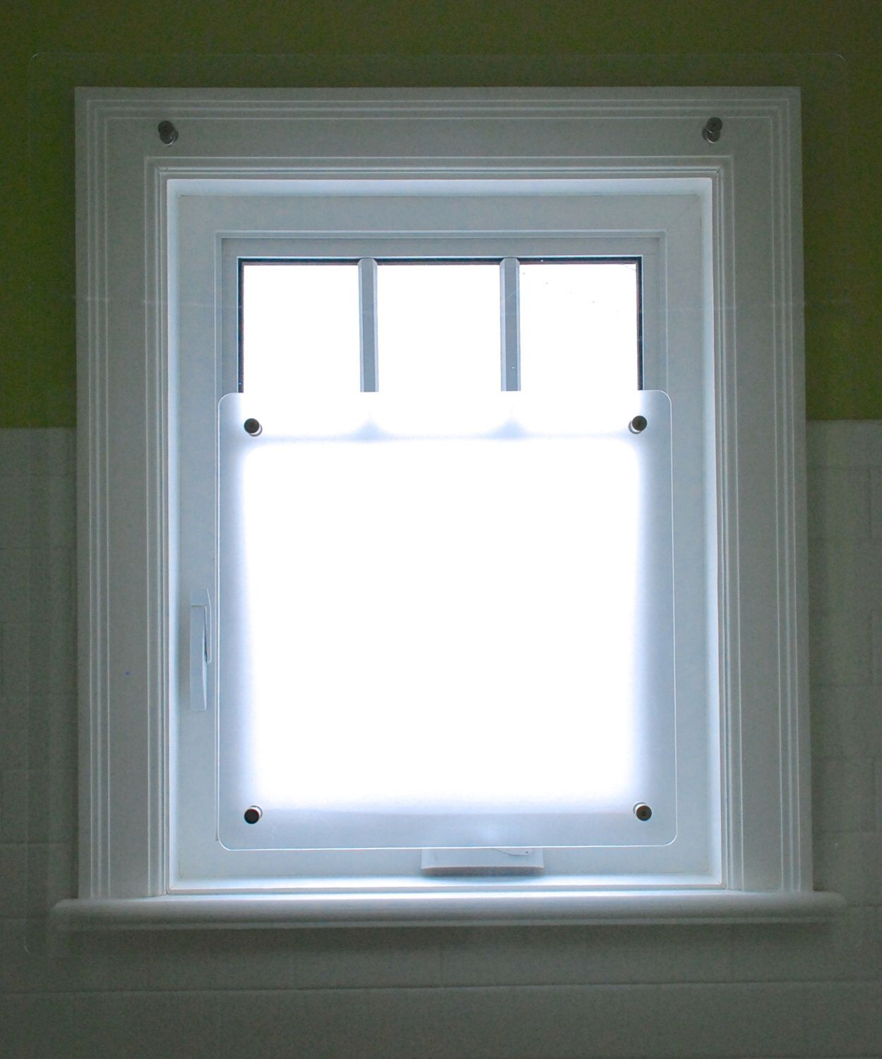 Shower Window Screen Protects Your And Woodwork But Does Not Hide Them Ensure Privacy Lets Sunlight In Custom Made For You