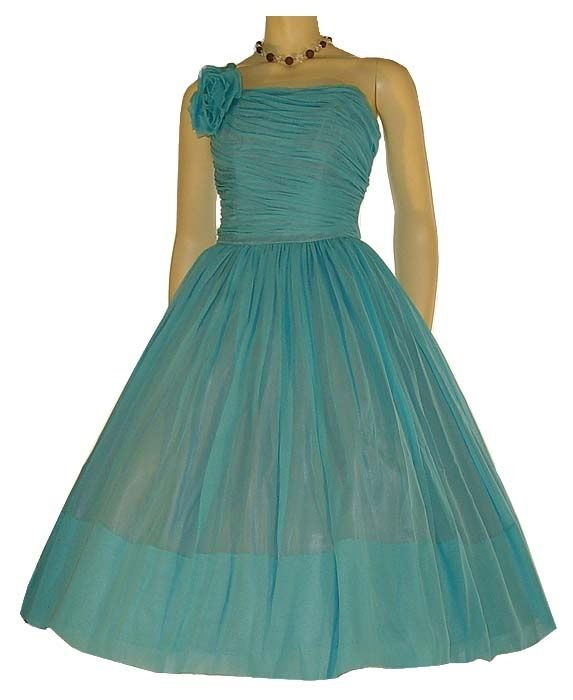 50s turquoise dress for tween Bridesmaid An Agosta Wedding. | Big ...