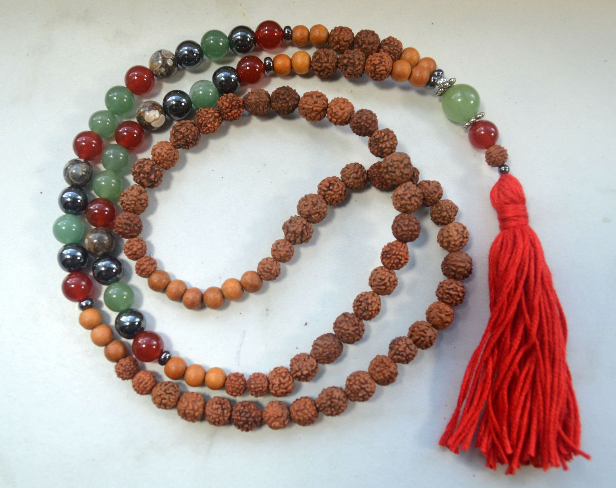 Energizing Mala with Rudraksha
