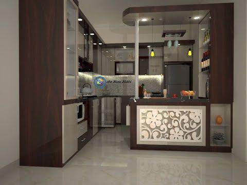 desain interior dapur cantik dg kitchen set & meja