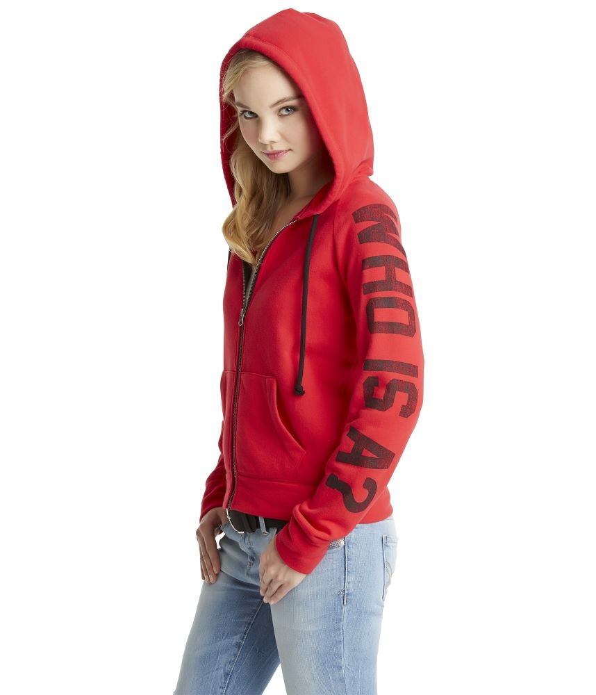 Pretty Little Liars Who Is A? Zip-Front Hoodie - Aeropostale OMG YES!!!  @Baylie Wright