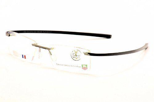 Tag Heuer Eyeglasses 0713 Black TagHeuer Rimless Ceramic Optical Frame 56mm TAG Heuer. $519.95