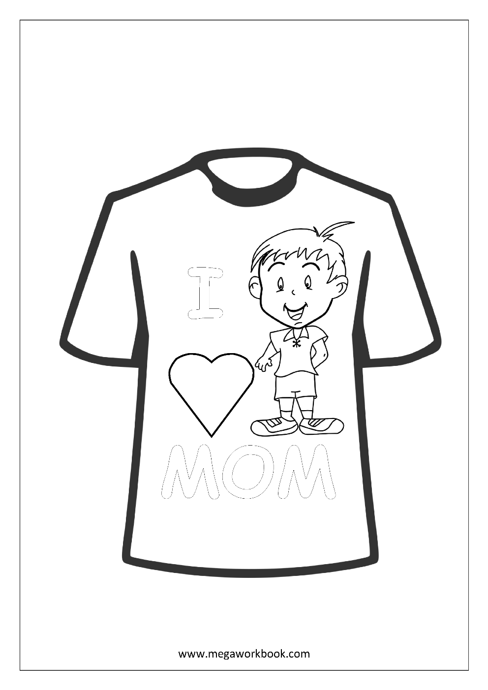 Mother's Day Coloring Pages Free Printable Coloring