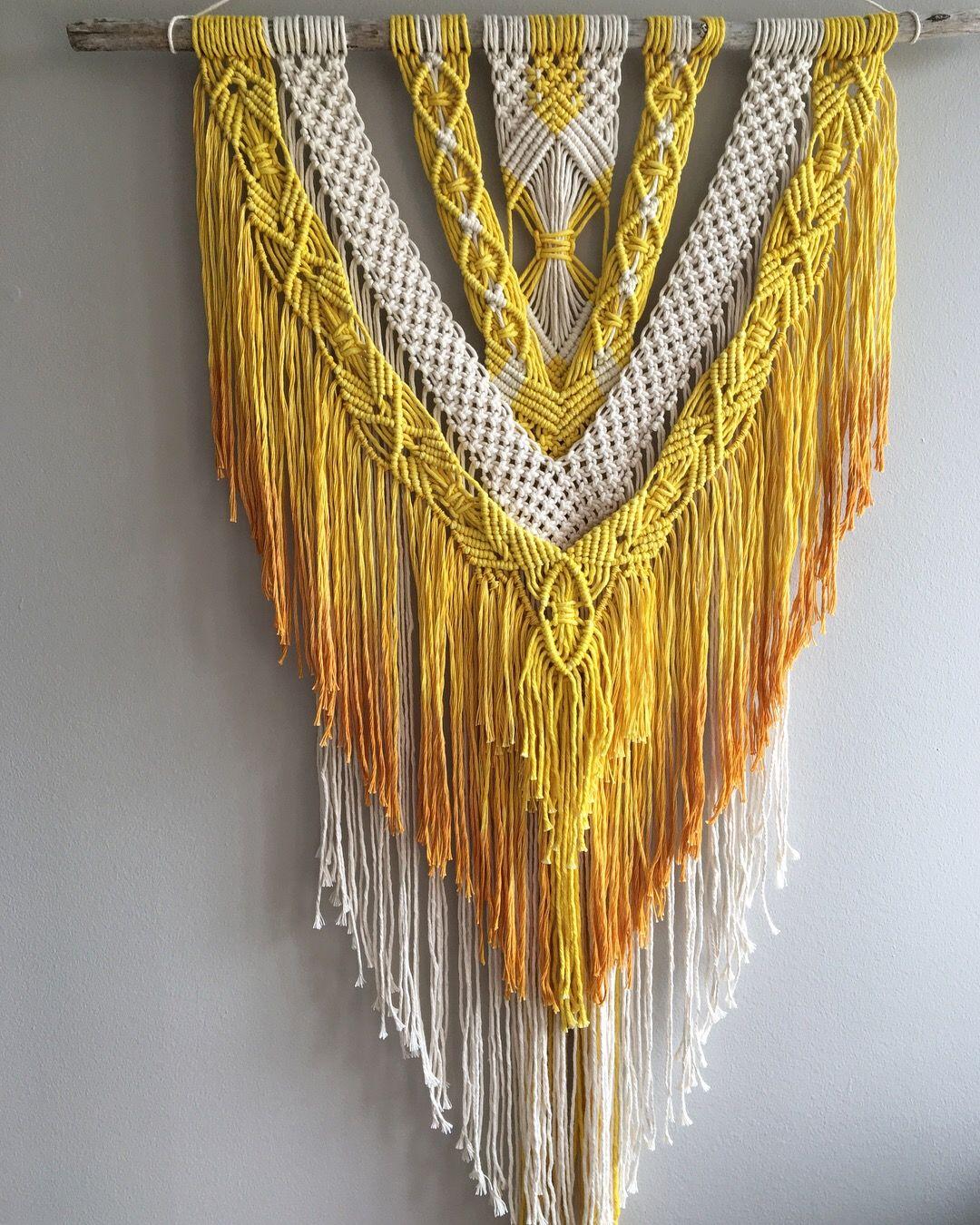 Macrame Wall Hanging, Natural Dye | Macrame Wall Hangings ...