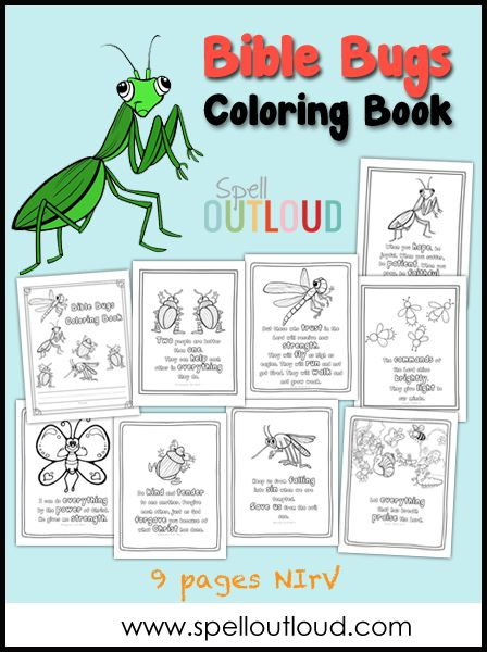 Bible Bugs Scripture Coloring Pages Letter Writing Ideas