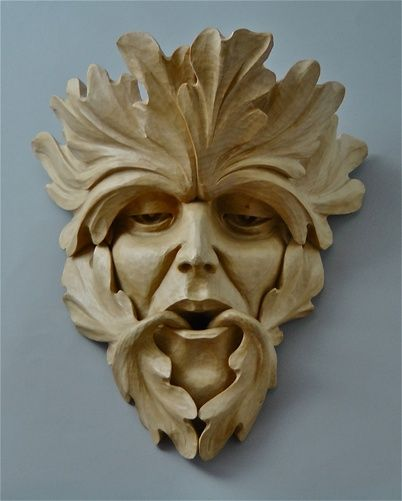 Green Men Chris Pye Master Carver Green Man Wood
