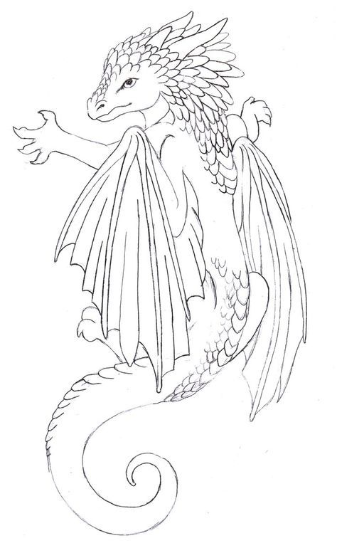 dragon tattoos for women on side | Baby dragon tattoo by ~Annikki on ...
