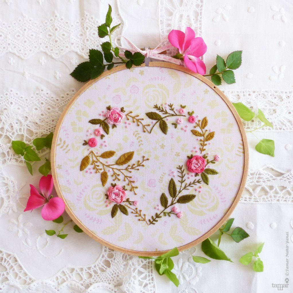 Flower heart embroidery design is a do it yourself project it flower heart embroidery design is a do it yourself project it solutioingenieria Choice Image