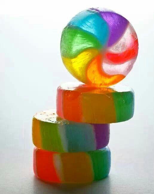 coloured wheel soap;