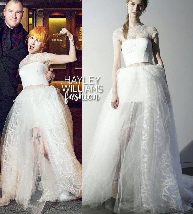 Avril Lavigne Wedding Gown: Hayley Williams (Wedding Feb. 20 2016)